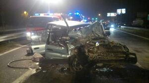 Wypadek zablokował przejazd[br] przez Łomianki