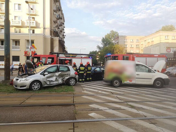 Zderzenie trzech aut Antoni