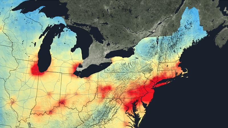 Zanieczyszczenia dwutlenkiem azotu (2011 rok)