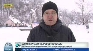 """Zima wyłączyła prąd. """"Wiele awarii ma charakter poważny"""" (TVN24)"""