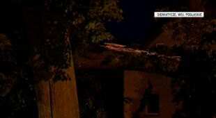Zniszczenia po burzy w Siemiatyczach (TVN24)