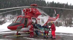 Marian Papież o akcji ratowania narciarki (TVN24)